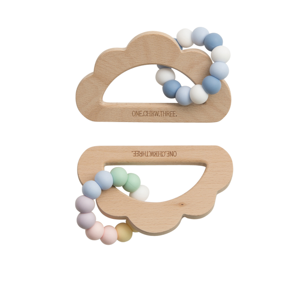 Baby Beissring Teether Cloud Wolke zwei Farben Yay Kids