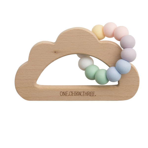 Baby Beissring Teether Cloud Wolke Rainbow Yay Kids