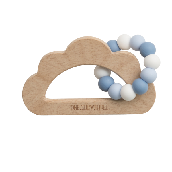 Baby Beissring Teether Cloud Wolke Blau Weiss Yay Kids