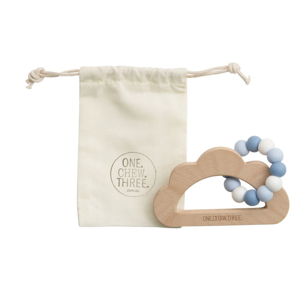 Baby Beissring Teether Cloud Wolke Blau Yay Kids