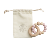 Baby Beissring Teether Rattle Rassel Rosa Creme Yay Kids