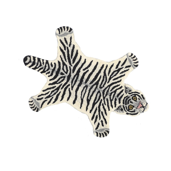 Doing Goods Snowy Tiger Rug Small Teppich Kinderzimmer bei Yay Kids