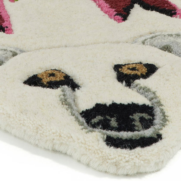 Doing Goods Kasbah Polar Bear Rug Small Details bei Yay Kids