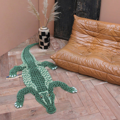 Doing Goods Coolio Crocodile Rug Gross Deko Teppich bei Yay Kids