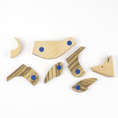 Wooden Puzzle Wolf