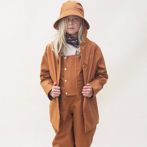 Faire Child Recycelte Kinder Regenjacke Rostrot bei Yay Kids