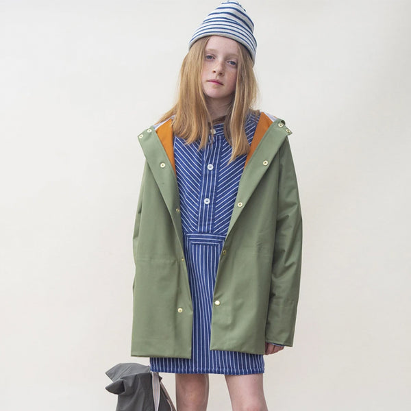 Faire Child Recycelte Kinder Regenjacke Grün bei Yay Kids