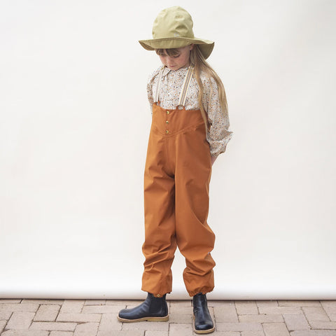 Faire Child Recycelte Kinder Regenhose Rostrot bei Yay Kids