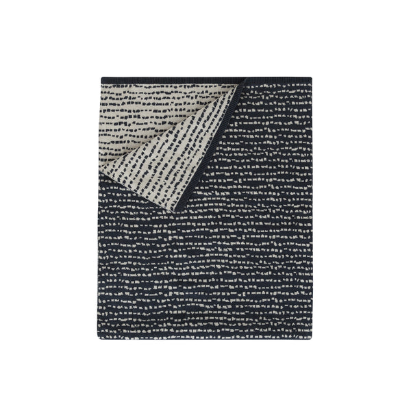 Home by Door Baby Blanket Block Dark Blue Babydecke bei Yay Kids