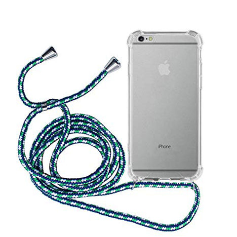 iPhone Necklace Handykette Blau gemustert bei Yay Kids