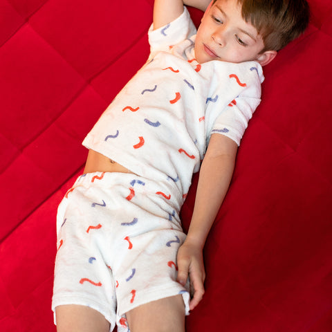 Hey Soleil Kinder Shorts Weiss Frottee Jungs bei Yay Kids