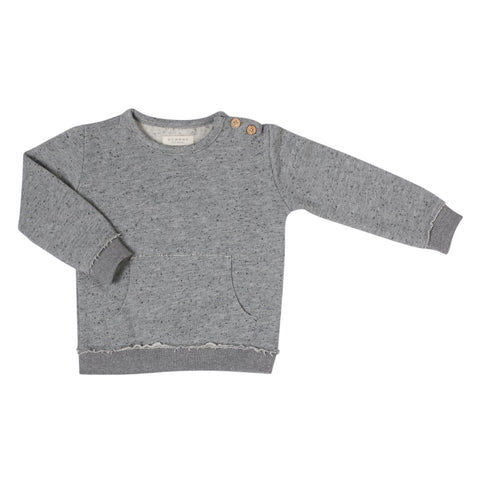 Nixnut Baby Pullover Grau Yay Kids Front