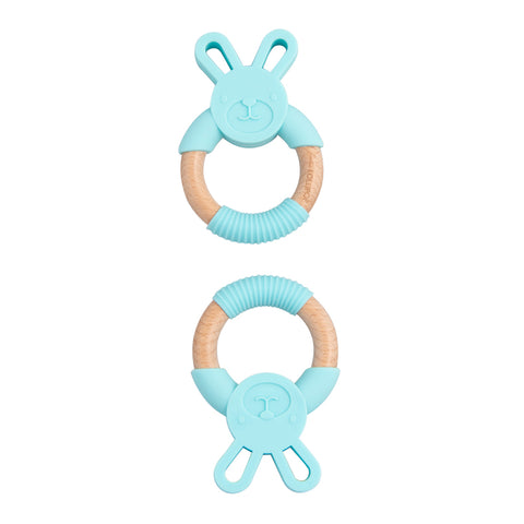 Baby Beissring Bunny Aqua Loulou Lollipop bei Yay Kids