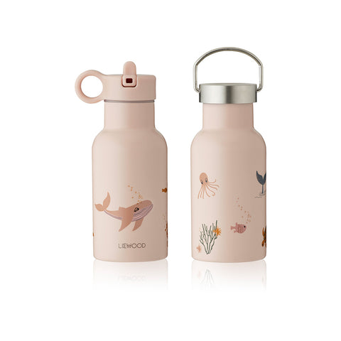 Liewood Kinder Trinkflasche Anker Sea Creature rose mix bei Yay Kids