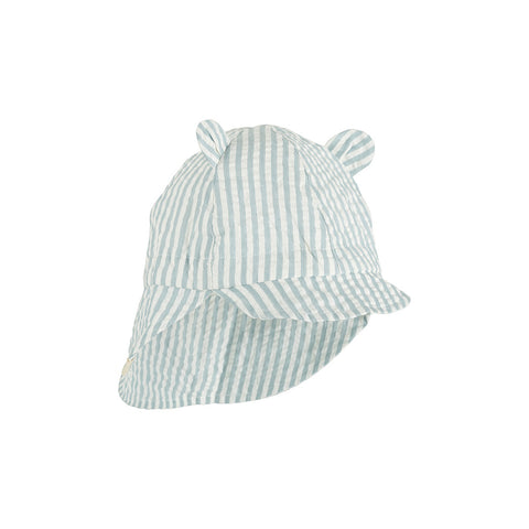 Liewood Baby Sonnenhut Gorm Sea Blue White Stripe bei Yay Kids