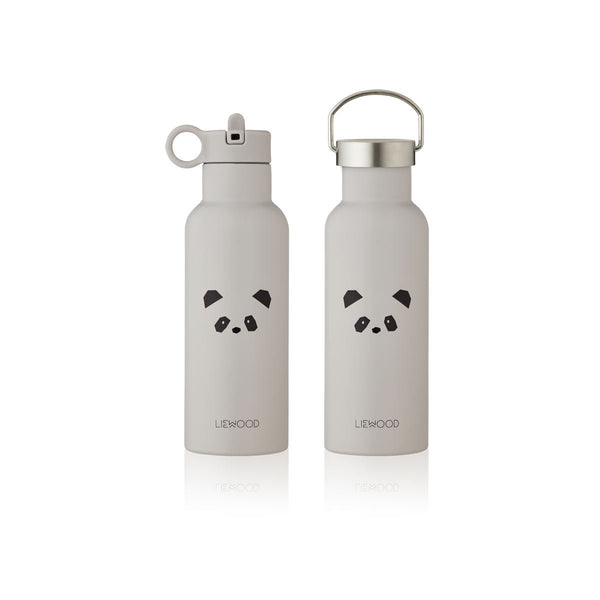 Liewood Kinder Trinkflasche Neo Panda Light Grey 500ml bei Yay Kids