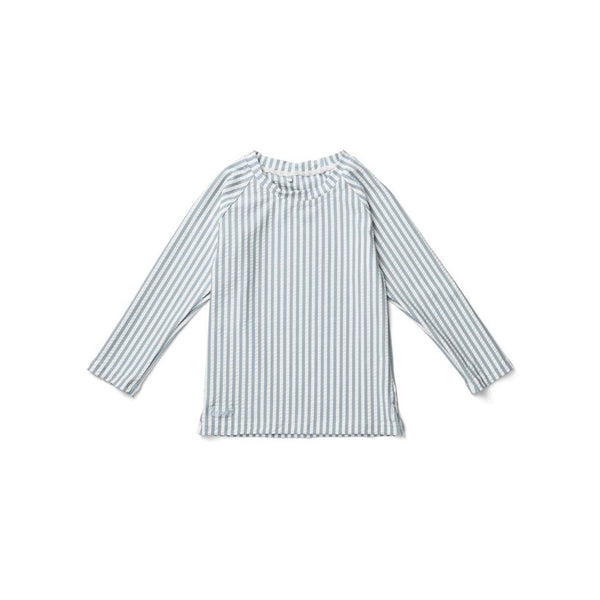 Liewood Kinder UV T-Shirt Noah Seersucker Sea Blue bei Yay Kids