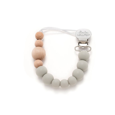 Pacifier Clip Colour Block Cool Grey