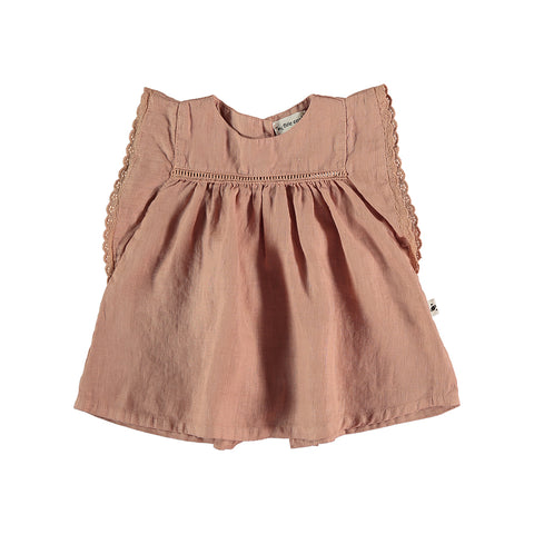 My Little Cozmo Baby Kleid Leinen Terracotta bei Yay Kids