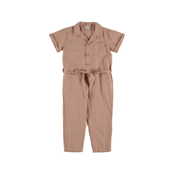 My Little Cozmo Kinder Leinen Overall Terracotta bei Yay Kids