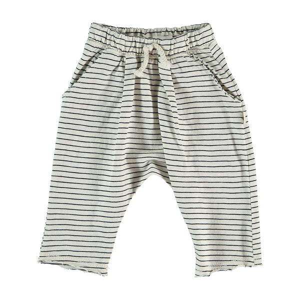 My Little Cozmo Baby Sommer Hose Ivory gestreift bei Yay Kids