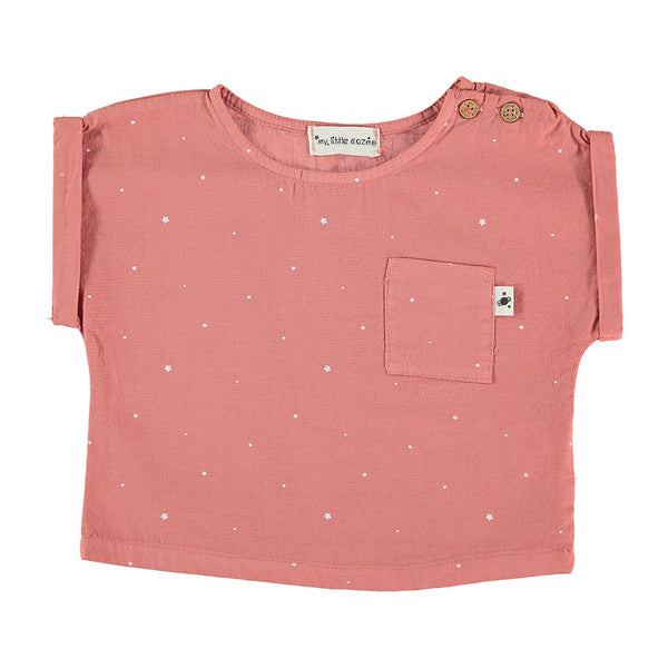 My Little Cozmo Baby T-Shirt Coral Stars Bio-Baumwolle bei Yay Kids