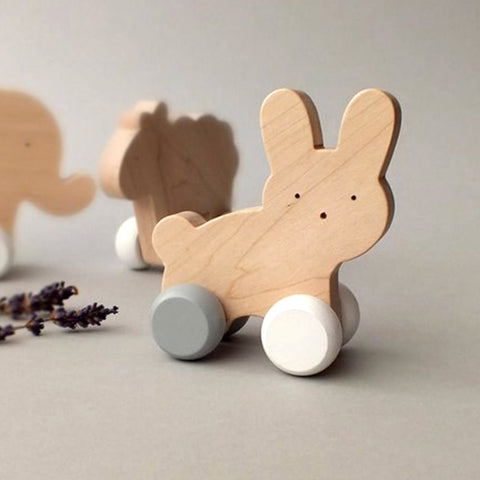 Wooden Roll Toy Bunny