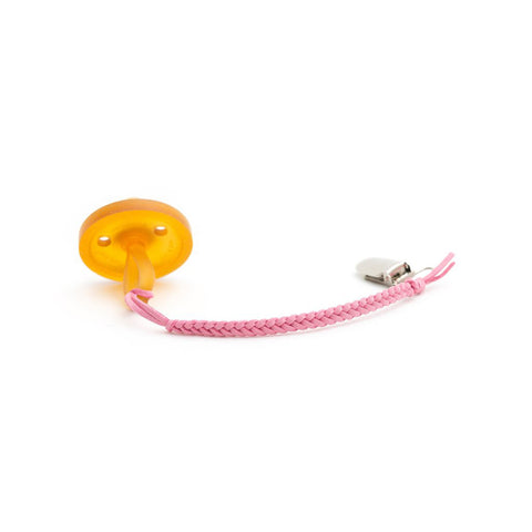 Pacifier Clip Suede Pink