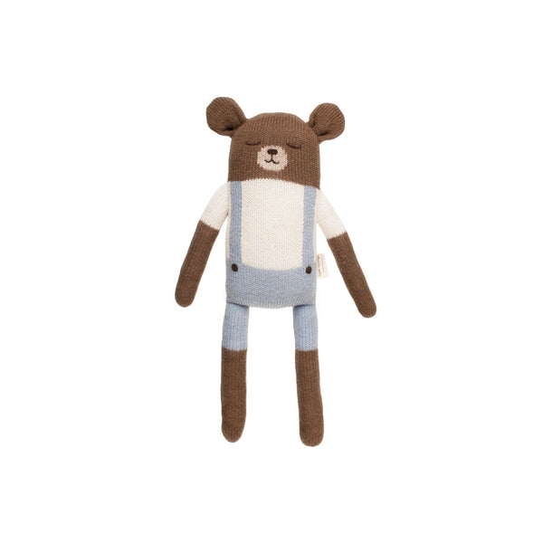 Main Sauvage gestrickter Teddy Big Blue bei Yay Kids