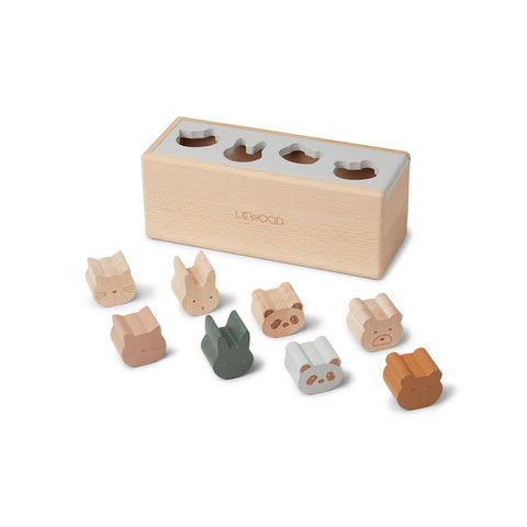 Liewood Kinder Holz Puzzle Box Midas Classic Mix bei Yay Kids