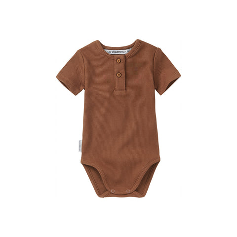 Mingo Baby Body gerippt Warm Earth bei Yay Kids