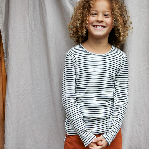 Mingo Kinder geripptes T-Shirt Stripes bei Yay Kids