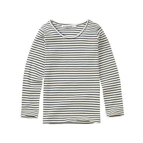 Mingo Kinder langärmeliges geripptes T-Shirt Stripes bei Yay Kids