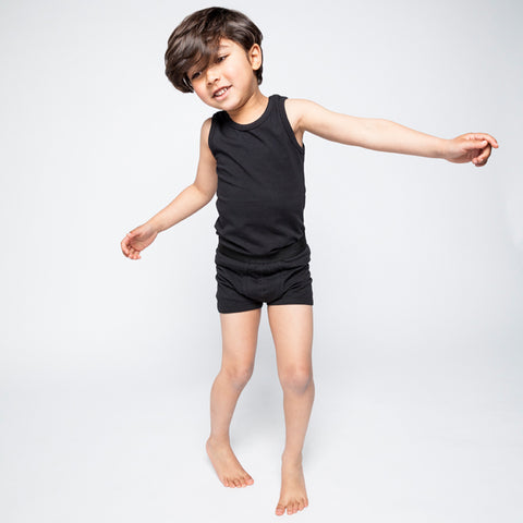 Kinder Tank Top in Schwarz Mingo Yay Kids