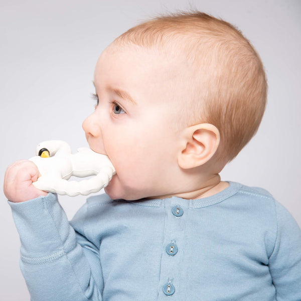 Natural Rubber Teether Swan