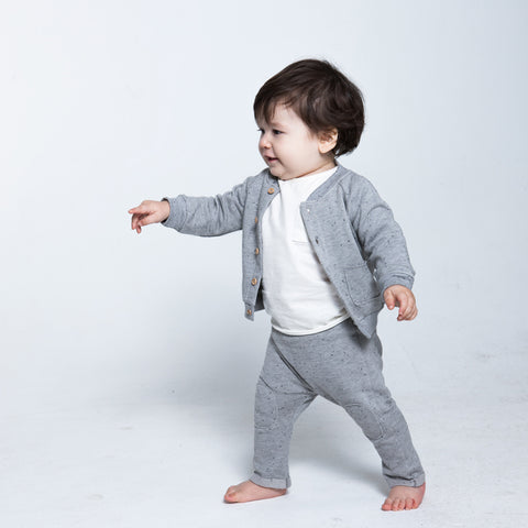 Pre-Owned Cardigan Speckle Grey 12-18 Months