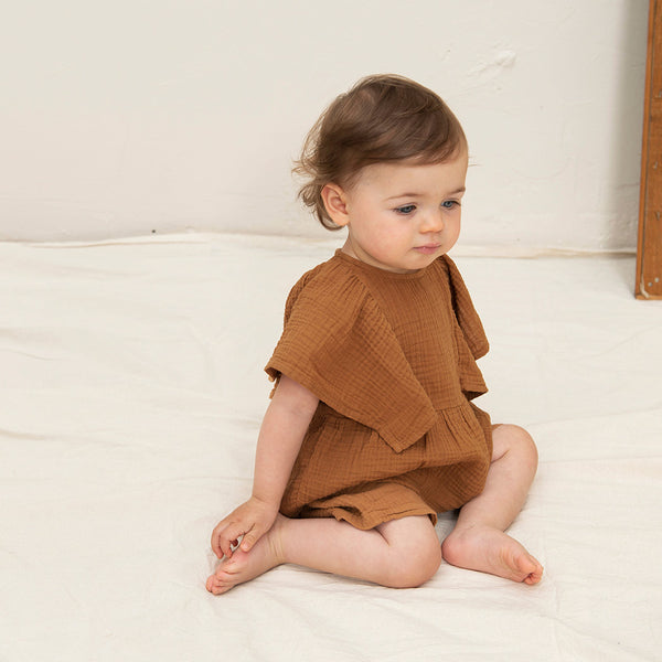 Nixnut Baby Top Rio Musselin Stoff Nut bei Yay Kids