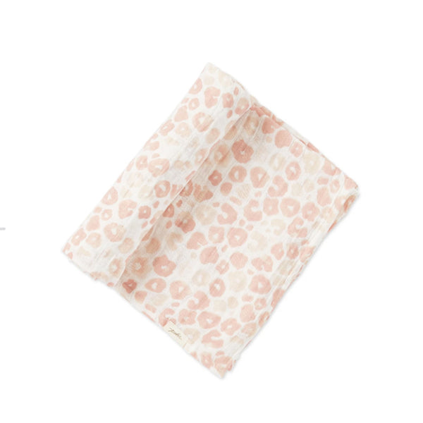 Pehr Swaddle Poppy Blush Leo Muster 120x120 cm bei Yay Kids