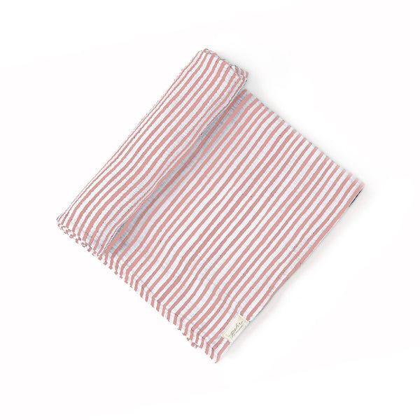 Pehr Swaddle Stripes Away Pink Nuschi 120x120 cm bei Yay Kids