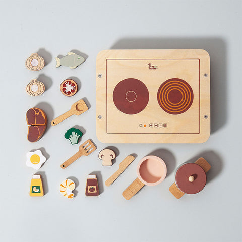 Petit Monkey Kinder Holz Play Food Set bei Yay Kids