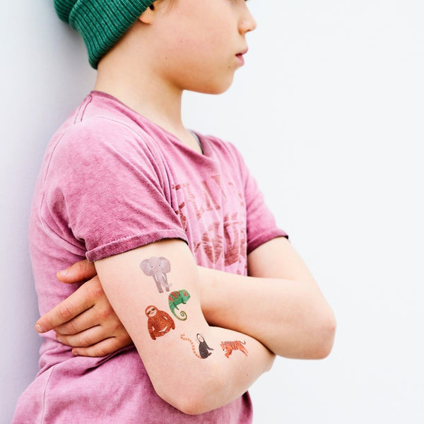 Petit Monkey Kinder Tattoos Jungle Animals bei Yay Kids
