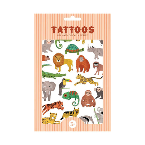 Petit Monkey Kinder Tattoos Dschungel Tiere bei Yay Kids