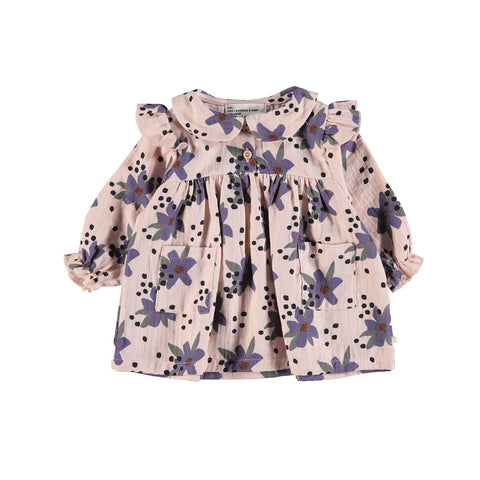 Piupiuchick Baby Kleid Peter Pan Rosa Flowers bei Yay Kids