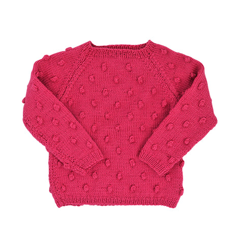 Yay Kids Baby Strick Pullover Xmas Bauble Pink
