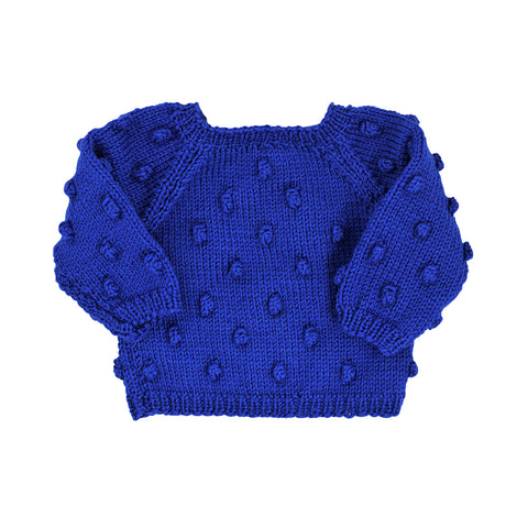 Yay Kids Baby Strick Pullover Xmas Bauble Blue