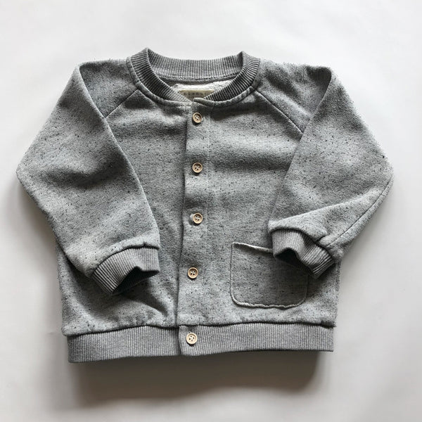 Second Hand Kinder Cardigan Speckle Grau von Nixnut bei Yay Kids Closet