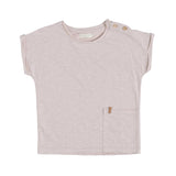 Kinder T-Shirt Raw Cut Old Pink von Nixnut bei Yay Kids