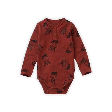 Sproet & Sprout Baby Body in Bordeaux Pierrot bei Yay Kids