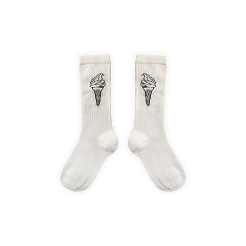 Sproet & Sprout Kinder Sportsocken Ice Cream Weiss bei Yay Kids