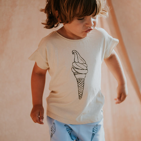 Sproet & Sprout Kinder Leinen T-Shirt Ice Cream bei Yay Kids